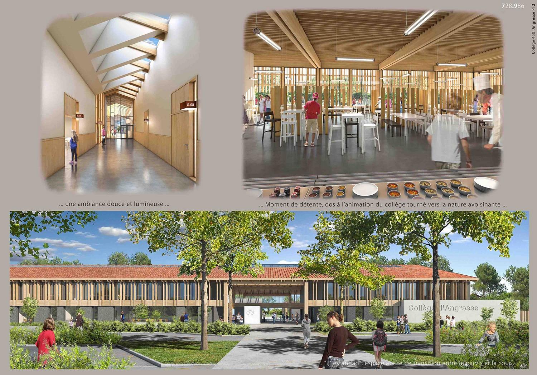 Construction d'un collège à Angresse